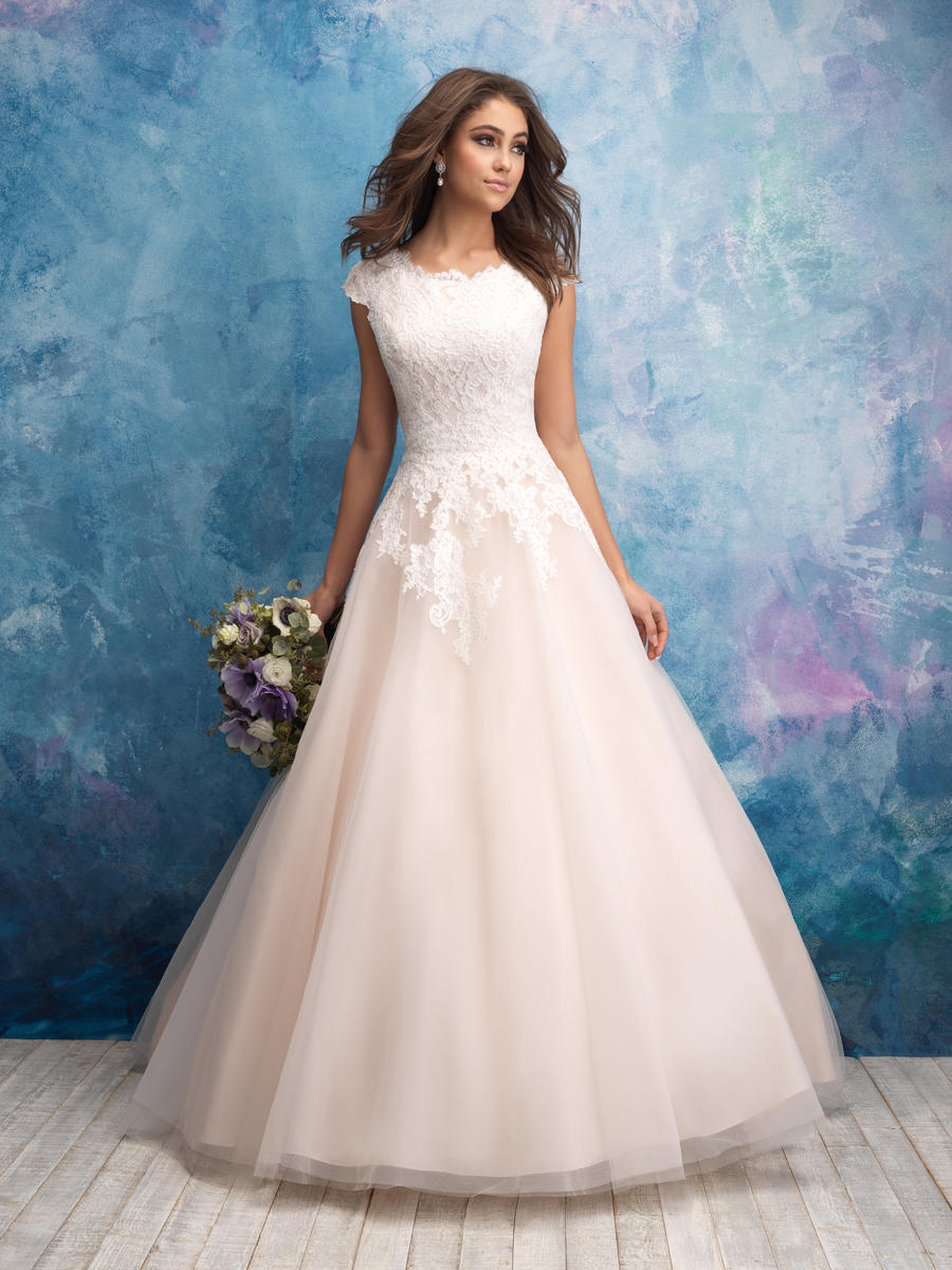 Allure Bridals Modest M601 Allure Modest Bridal Collection Bedazzled ...