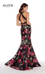 60178D Black Rose Print back