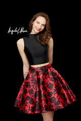72035 Black/Red Floral detail