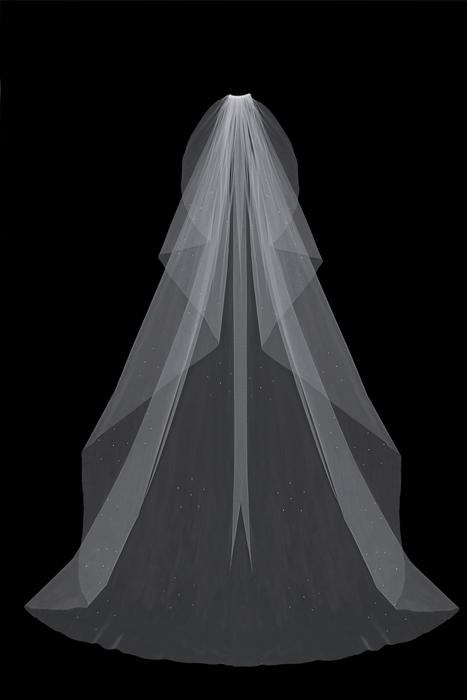 Wide Cathedral Bridal Veil