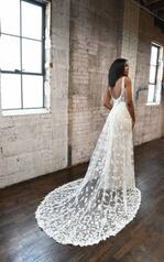 1330 Ivory Lace And Tulle Over Honey Gown back
