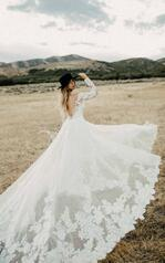 1337 Ivory Lace And Tulle Over Ivory Gown With Ivory Sl back