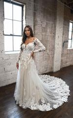 1337 Ivory Lace And Tulle Over Ivory Gown With Ivory Sl front