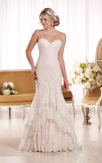 D1910 Ivory Lace over Ivory Matte-Side Lustre Satin with front
