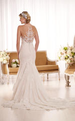 D1910 Ivory Lace over Ivory Matte-Side Lustre Satin with back
