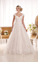 D1919 Ivory Lace and Tulle over Moscato Satin front