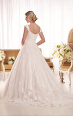 D1919 Ivory Lace and Tulle over Moscato Satin back