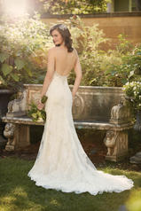 D2006 Ivory Lace and Tulle over Caf� Lavish Satin back