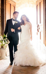 D2258 Tulle and Regency Organza over Ivory Gown front
