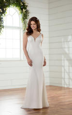 D2378 Ivory Gown with Java Tulle Illusion front