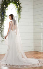 D2378 Ivory Gown with Java Tulle Illusion back