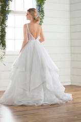 D2723 Ivory Lace On Ice Tulle Gown/Ivory Tulle Illusion back