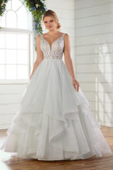 D2723 Ivory Lace On Ice Tulle Gown/Ivory Tulle Illusion front