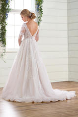 D2737 Ivory Lace/Tulle/Ivory Gown/Ivory Tulle Plunge back