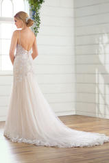 D2738 Ivory Silver Lace/Ivory Tulle/Ivory Gown/Ivory Tul back