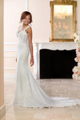 6560 Ivory Gown With Porcelain Tulle Illusion front