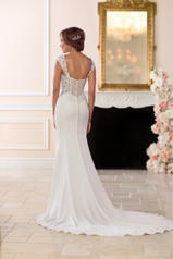 6560 Ivory Gown With Porcelain Tulle Illusion back