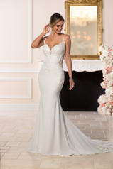 6586 Ivory Gown With Java Tulle Illusion White Gown Wit front