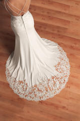 6586 Ivory Gown With Java Tulle Illusion White Gown Wit back