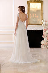 6628 Ivory Lace And French Tulle Over Moscato Gown With back