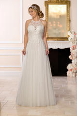 6642 Ivory Lace And French Tulle Over Ivory Gown With P front