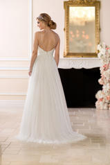 6642 Ivory Lace And French Tulle Over Ivory Gown With P back