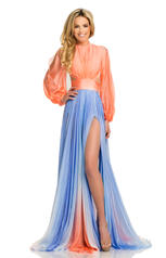 8005 Coral/Periwinkle Ombre front