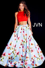JVN49990 Red/Blue Print front