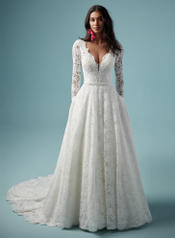 BB9MN860 Ivory gown with Nude Illusion front