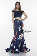 E2437 Navy Print front