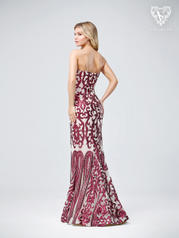 3206RG Wine/Nude back
