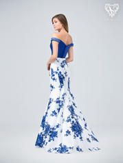 3215RB Print/Royal Blue back