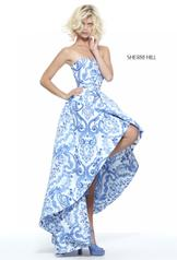 51097 Ivory/Blue Print front