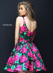 50604 Black/Fuchsia Print back