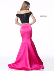 51855 Black/Fuchsia back