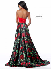 51870 Red/Black Print back