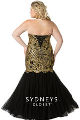 SC7253 Black/Gold back