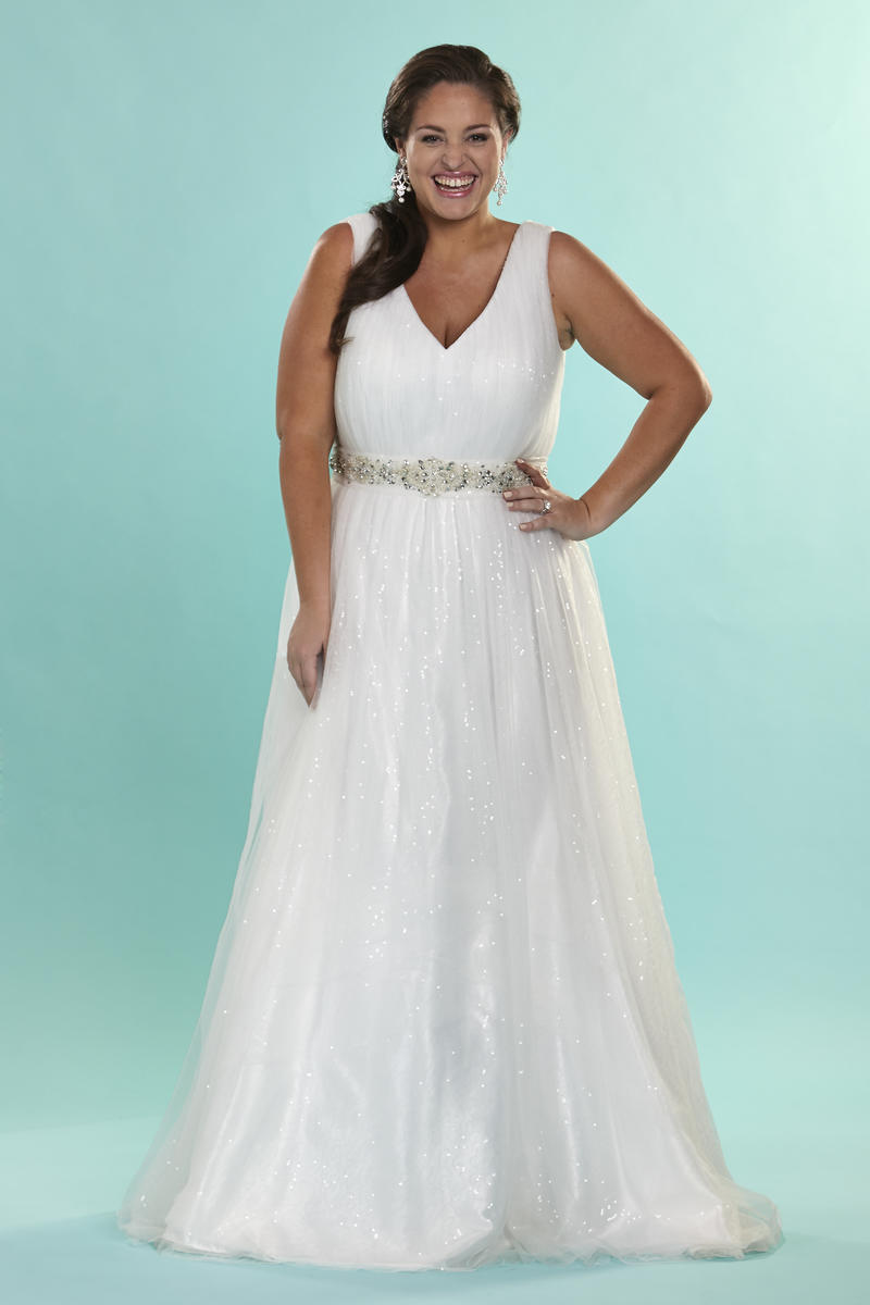 Sydney\'s Closet Plus Size Bridal SC5066 Plus Size Bridal Bedazzled ...