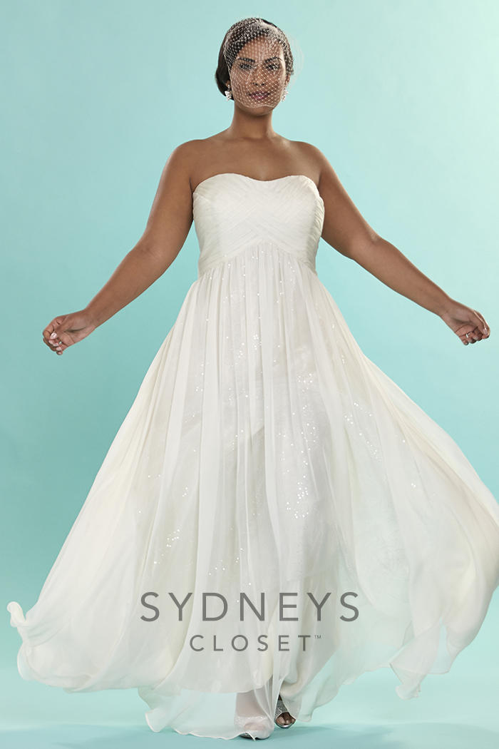 Sydney\'s Closet Plus Size Bridal SC5121 Plus Size Bridal Bedazzled ...