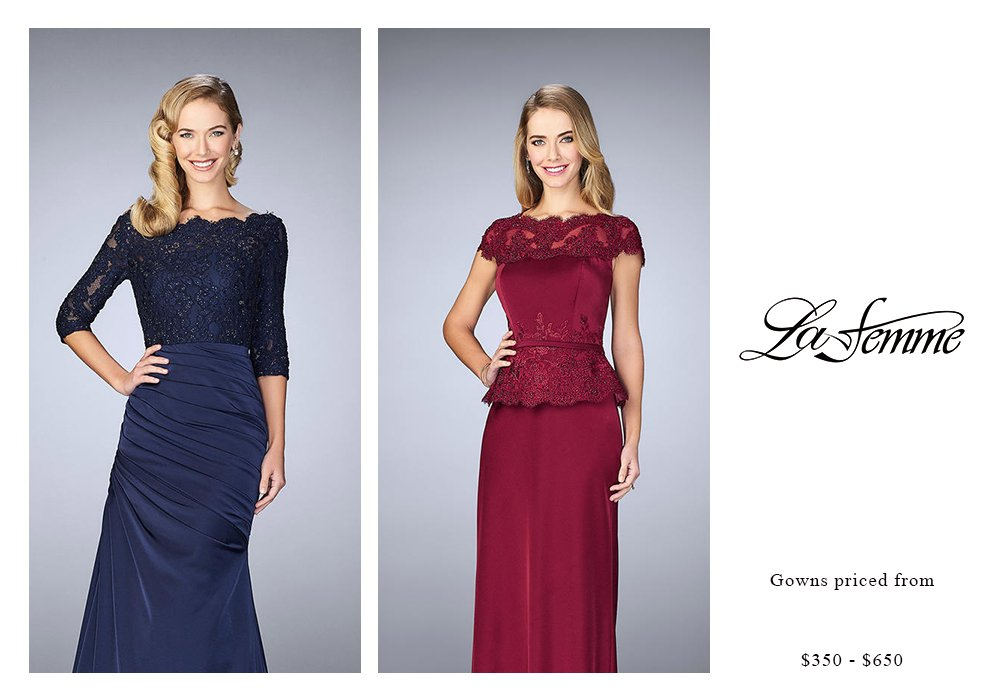 La Femme Gowns Priced $350 to $650