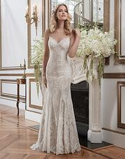 8791 Chantilly lace fit and flare featuring a