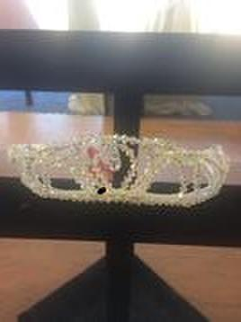 "T&G crown Swarovski ""aurore boreale"" T&G Bridal crown"