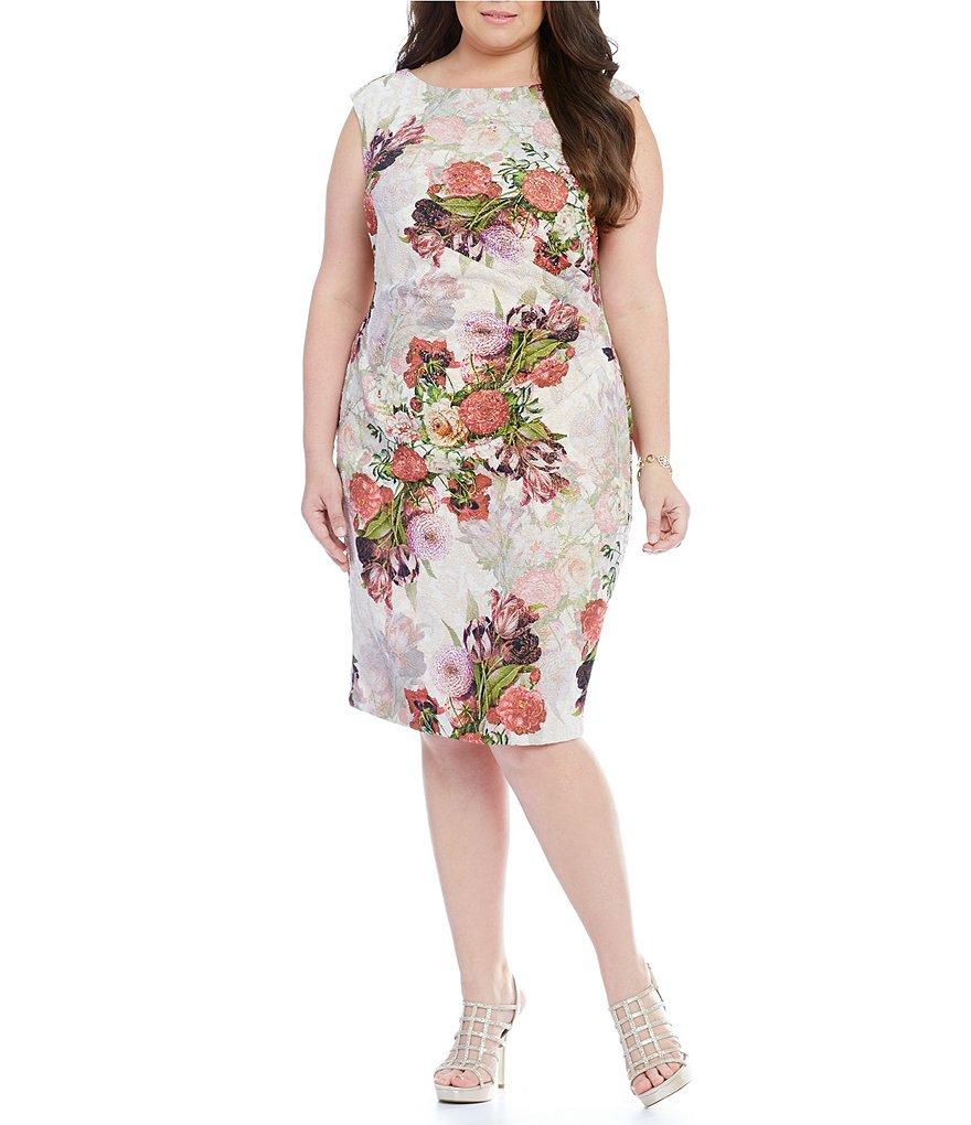 Luxe Collection Women's Plus Size Cocktail Dress