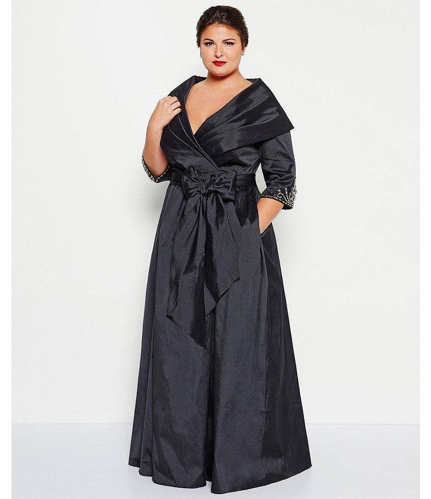 54741E200137 Luxe Collection Women\'s Plus Size Wrap Ballgown T ...