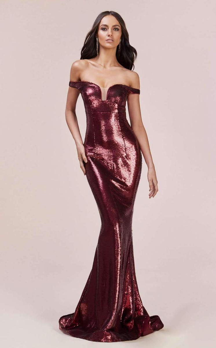 JESSICA SEQUIN BODYCON GOWN