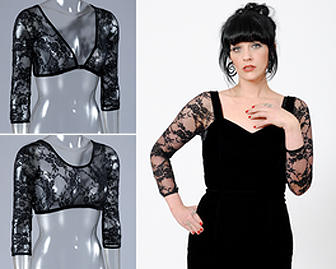 3/4 Length Black Lace Sleevey Wonders