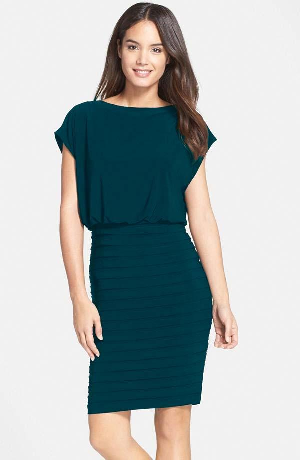 Luxe Collection Teal Pop Over Dress