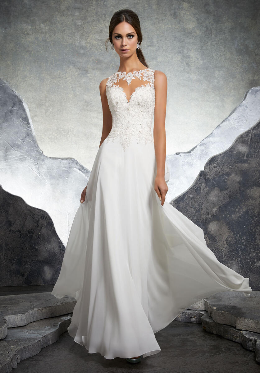 Morilee Bridal Gown Crystal Beading andChiffon