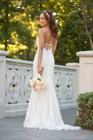 Stella York Ivory Lace Over Moscato Bridal Gown
