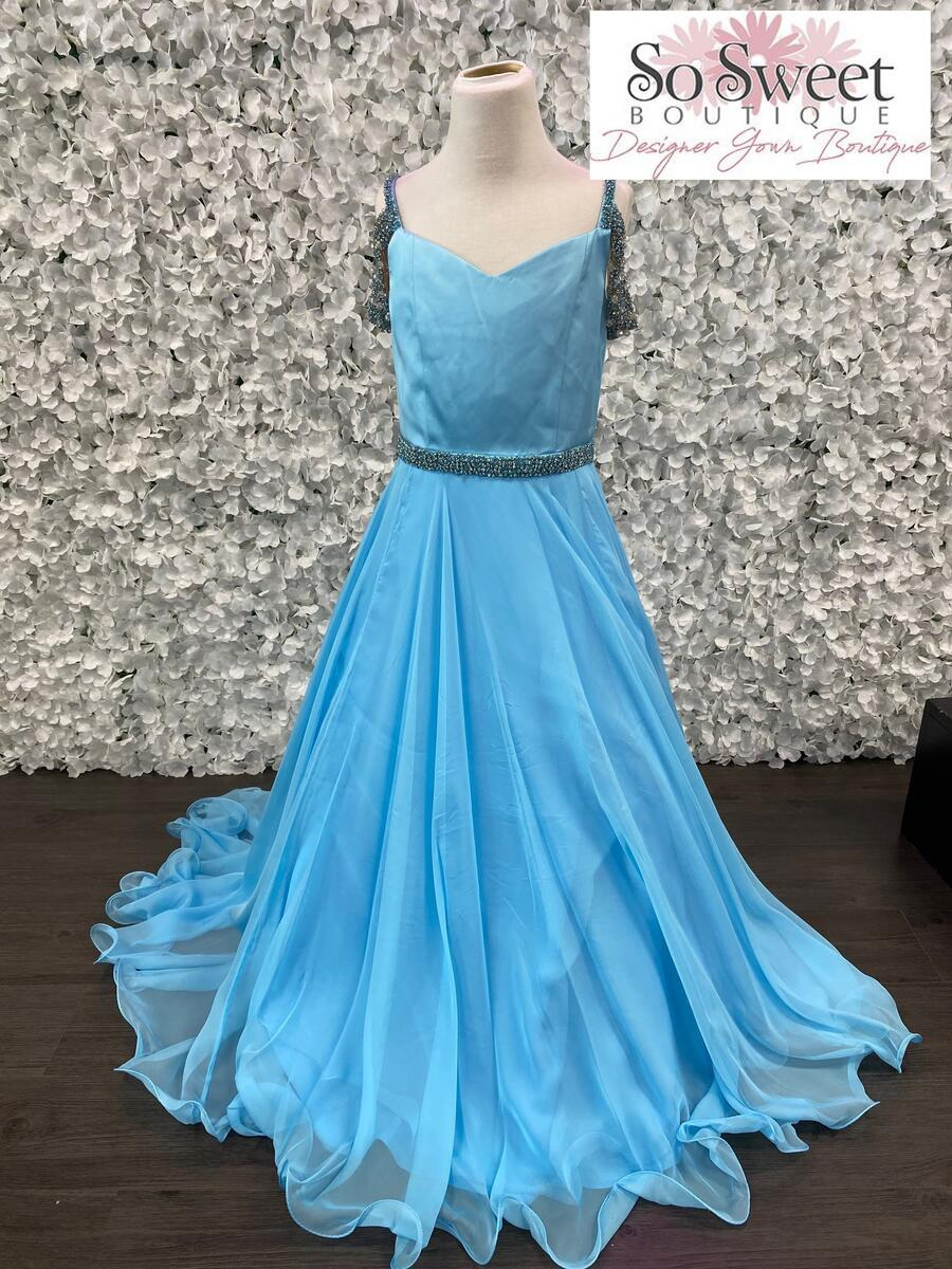 Sherri Hill Littles Girl Blue Pageant Dress